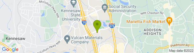 Map of Children's Healthcare of Atlanta Town Center - Kennesaw GA