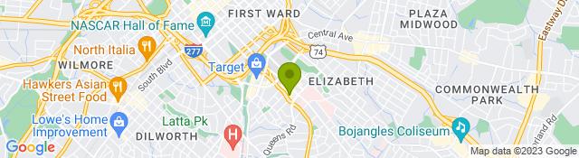 Map of Novant Health Rehabilitation Center - Charlotte NC