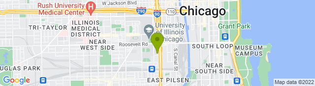Map of UI Health Outpatient Physical Therapy - Chicago IL