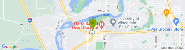 Map of Marshfield Clinic Eau Claire Physical Therapy Center - Eau Claire WI
