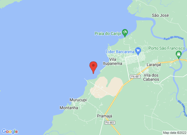 Map showing the location of Vila Do Conde