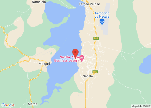Map showing the location of Nacala Porto