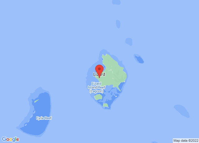 Map showing the location of Lizard Island