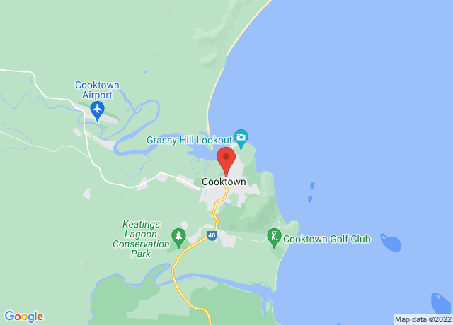 Map showing the location of Cooktown