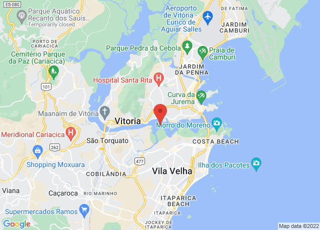 Map showing the location of Vitoria