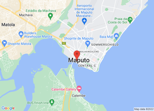 Map showing the location of Maputo