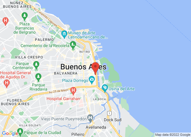Map showing the location of Buenos Aires