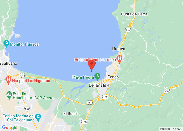 Map showing the location of Penco