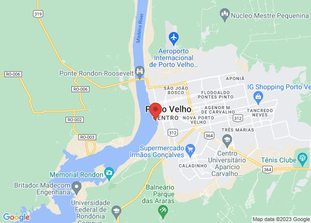 Map showing the location of Porto Velho