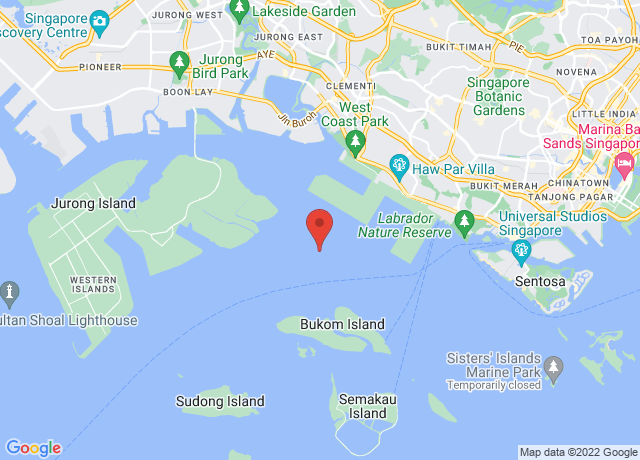 Map showing the location of Singapore