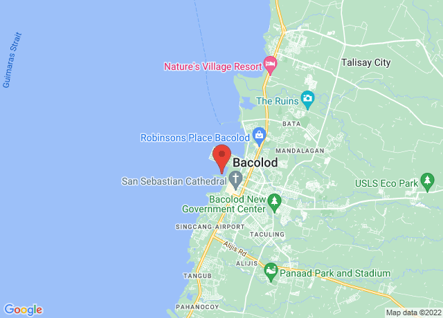 Map showing the location of Bacolod