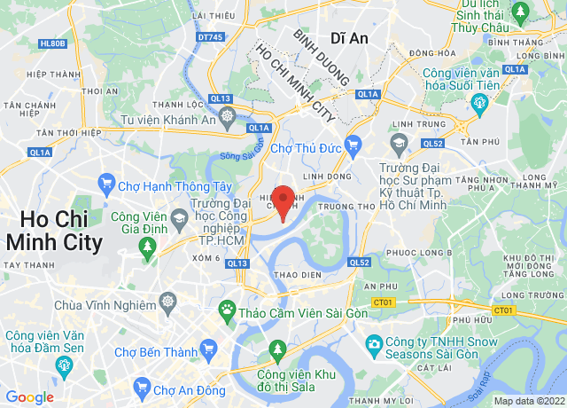 Map showing the location of Ho Chi Minh
