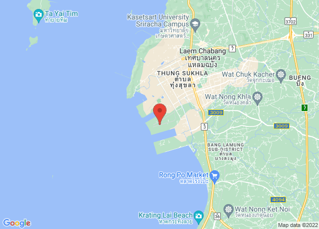 Map showing the location of Laem Chabang
