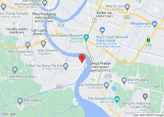 Map showing the location of Bangkok Modern Termi