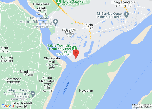 Map showing the location of Haldia