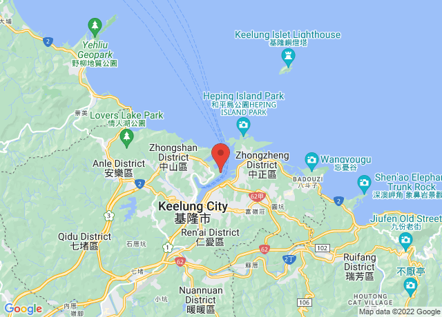 Map showing the location of Keelung
