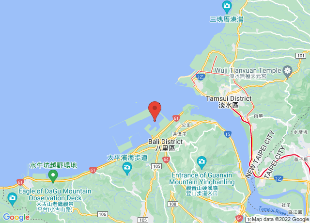 Map showing the location of Taipei