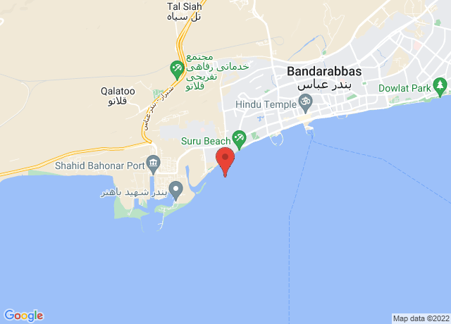 Map showing the location of Bandar Abbas