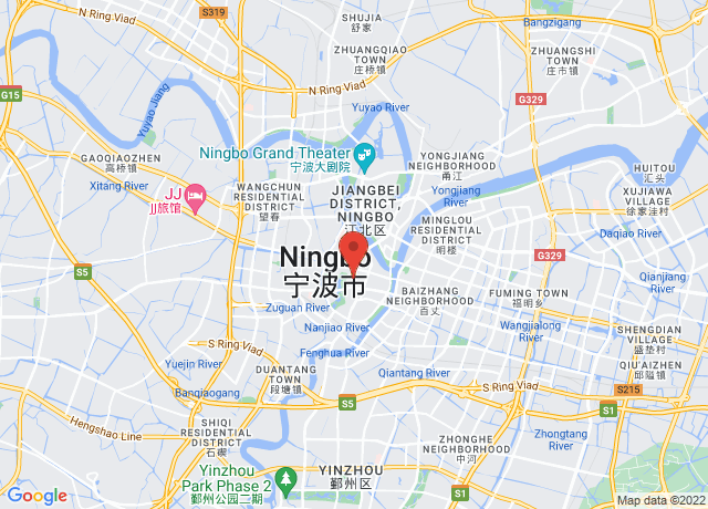 Map showing the location of Ningbo