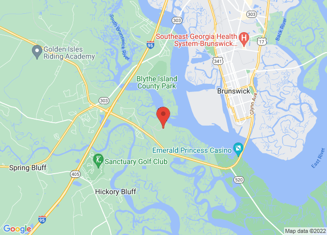 Map showing the location of Brunswick