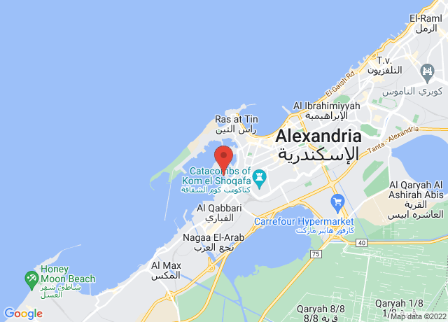 Map showing the location of Alexandria