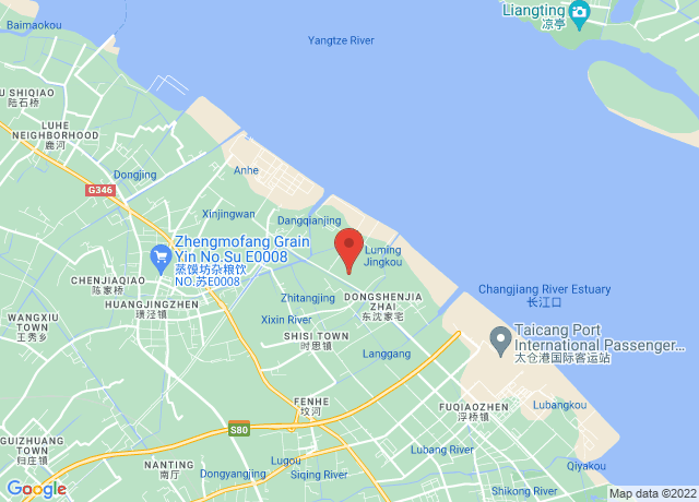 Map showing the location of Taicang