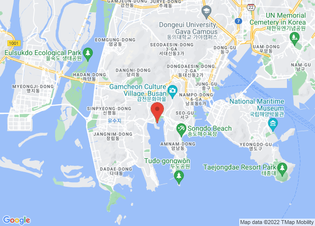 Map showing the location of Gamcheon/busan