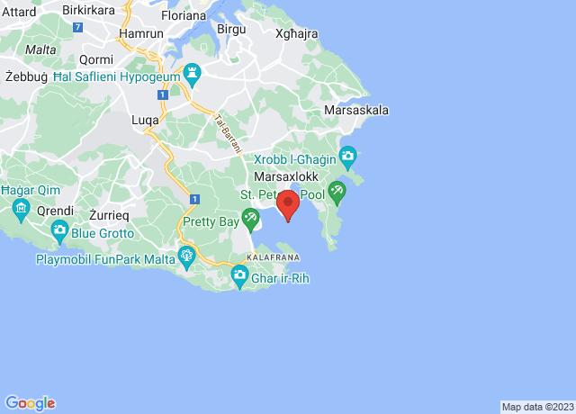 Map showing the location of Marsaxlokk