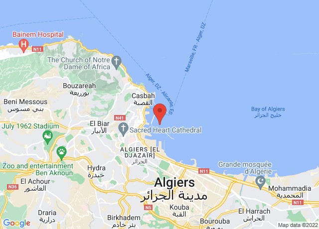 Map showing the location of Alger