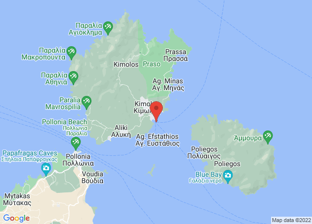 Map showing the location of Kimolos