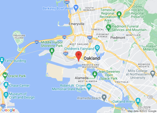 Map showing the location of Oakland
