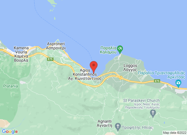Map showing the location of Agios Konstantinos