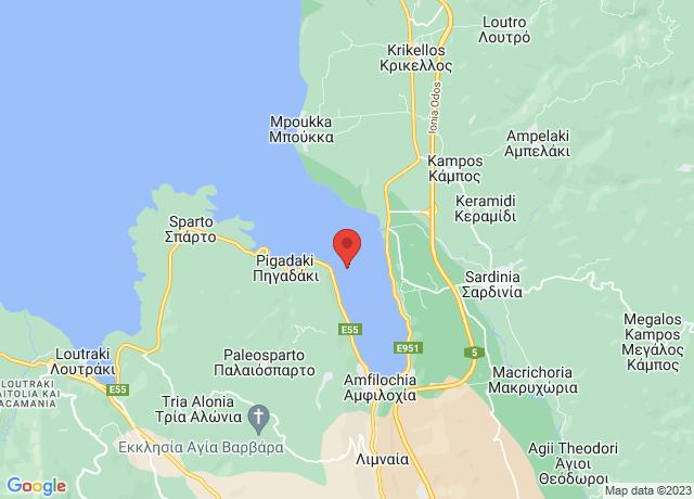 Map showing the location of Amfilochia