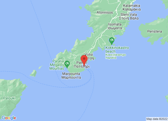 Map showing the location of Alonnisos
