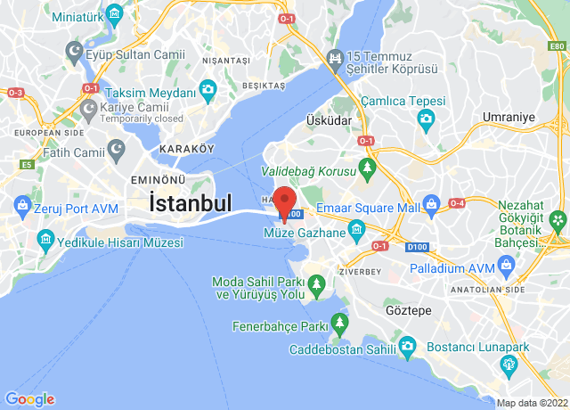 Map showing the location of Haydarpasa
