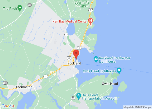 Map showing the location of Rockland