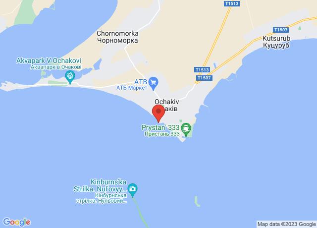Map showing the location of Ochakov Avant-port
