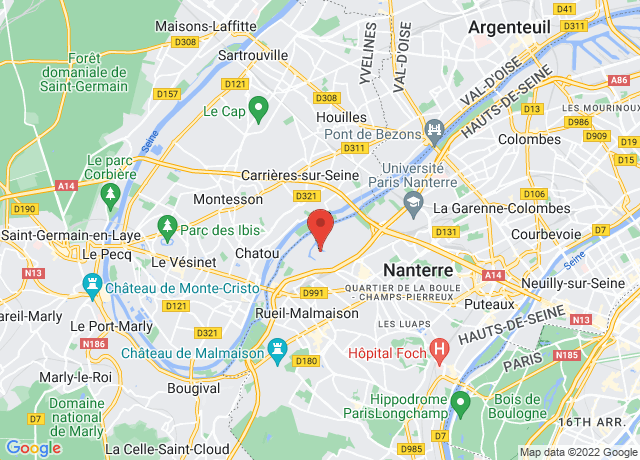 Map showing the location of Nanterre