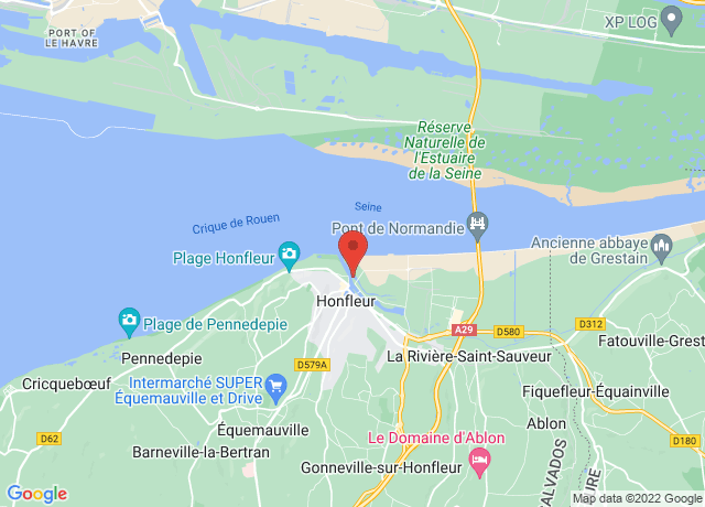 Map showing the location of Honfleur Avant-port
