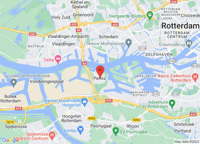 Map showing the location of Rotterdam Pernis