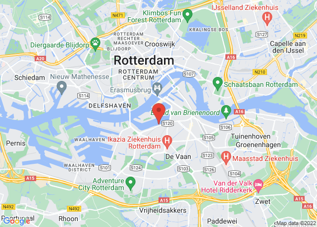 Map showing the location of Rotterdam Centrum