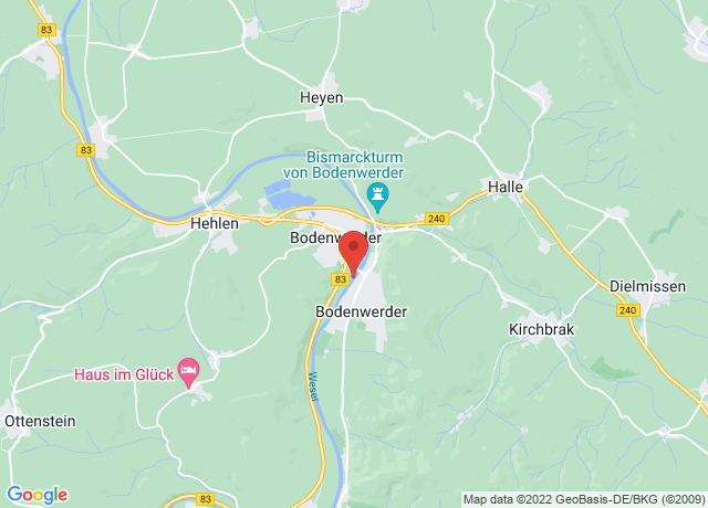 Map showing the location of Bodenwerder