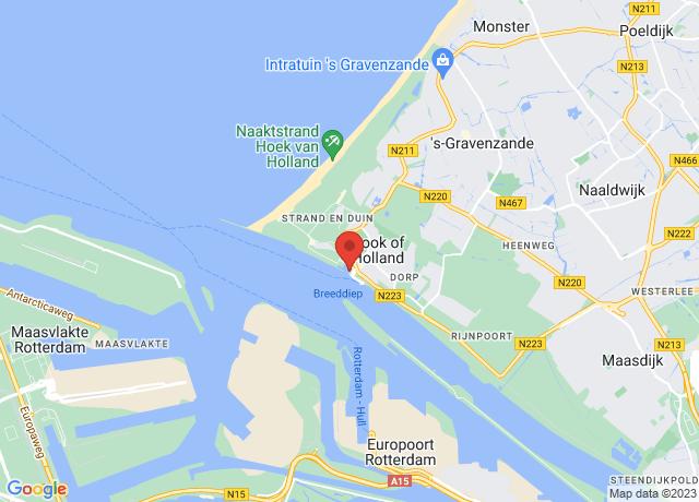 Map showing the location of Hoek Van Holland