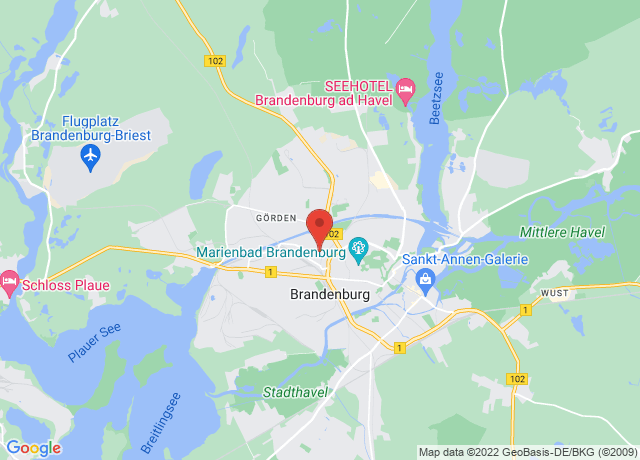 Map showing the location of Brandenburg
