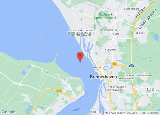 Map showing the location of Bremerhaven