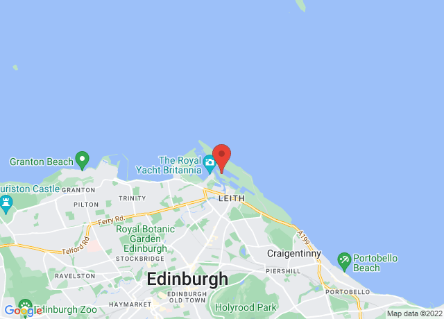 Map showing the location of Leith