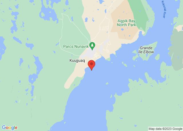 Map showing the location of Kuujjuaq