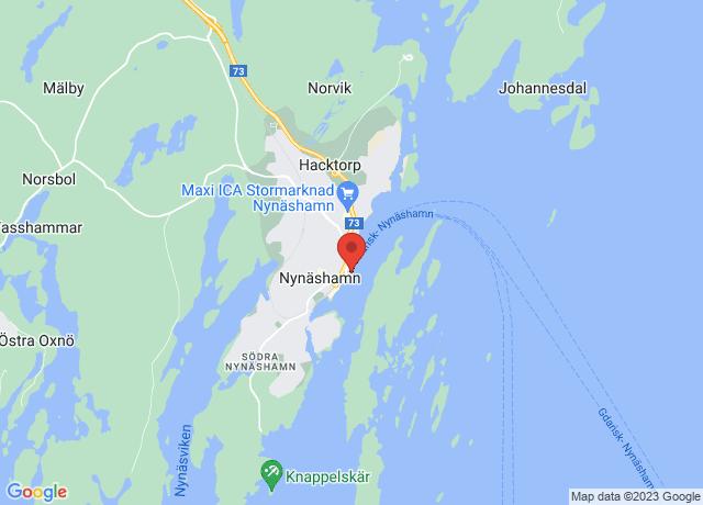 Map showing the location of Nynashamn