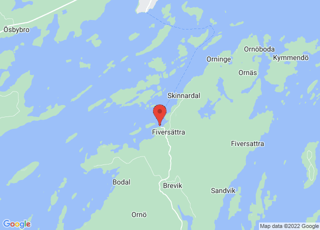 Map showing the location of Orno
