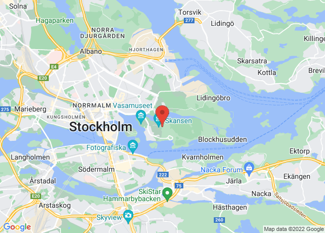 Map showing the location of Stockholm